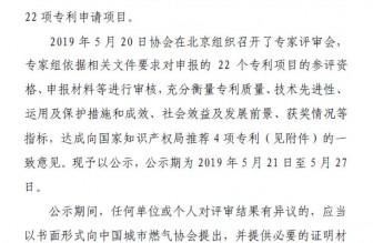 """中国城市燃气协会关于 """"第二十一届中国专利奖""""燃气行业推荐项目的结果公示"""