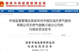 中石油天然气销售川渝分公司因收取已取消手续费被罚587万元