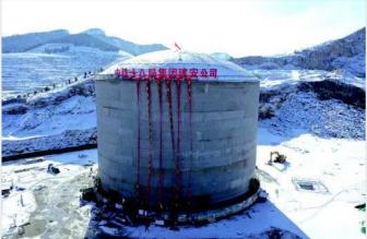 这座巨罐可储天然气1800万方