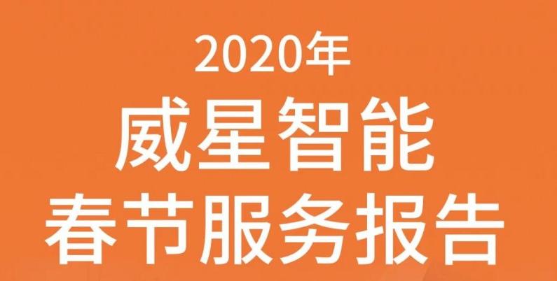 2020年威星智能春节服务报告